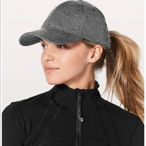 Lululemon Baller Hat Heathered Black Gray Grey O/S